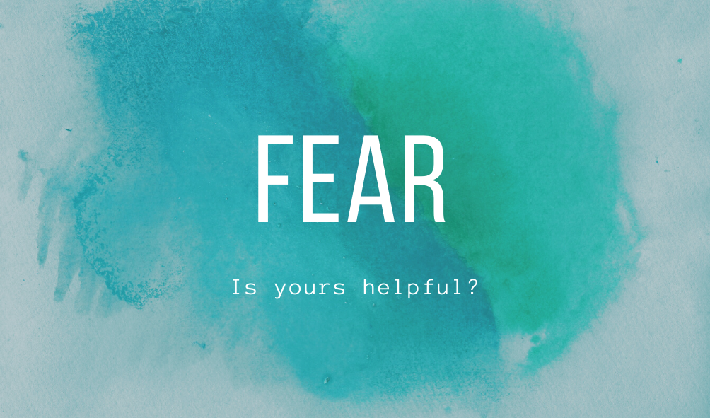 Is Your Fear Helpful?